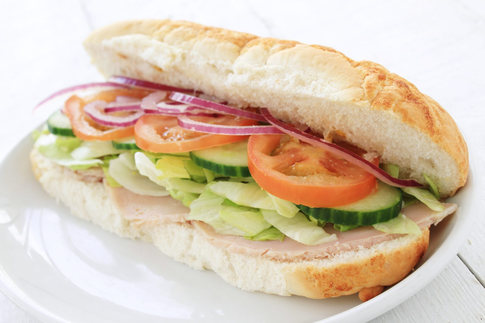 fresh veggie sub sandwich